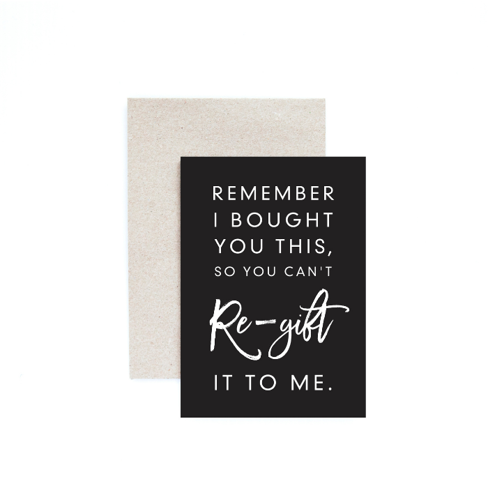 Regift greeting card - Seriously Milestones