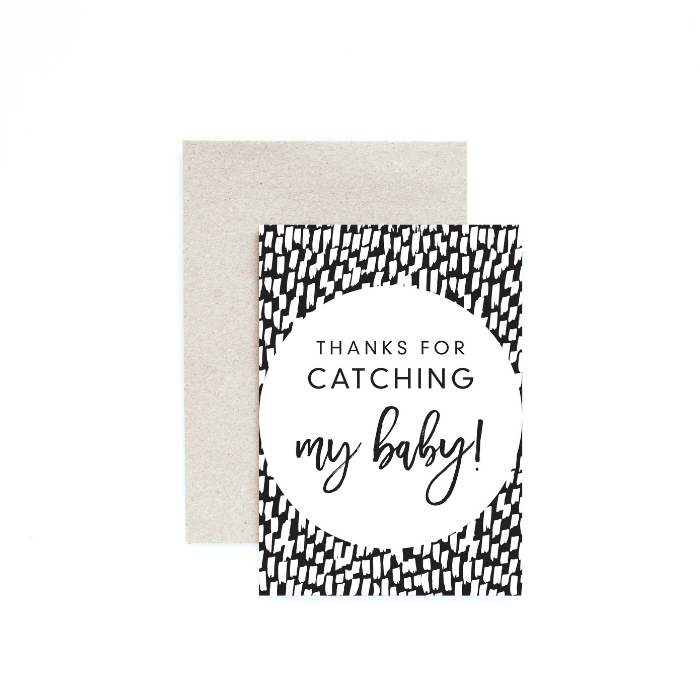 Thank you midwife card - Seriously Milestones