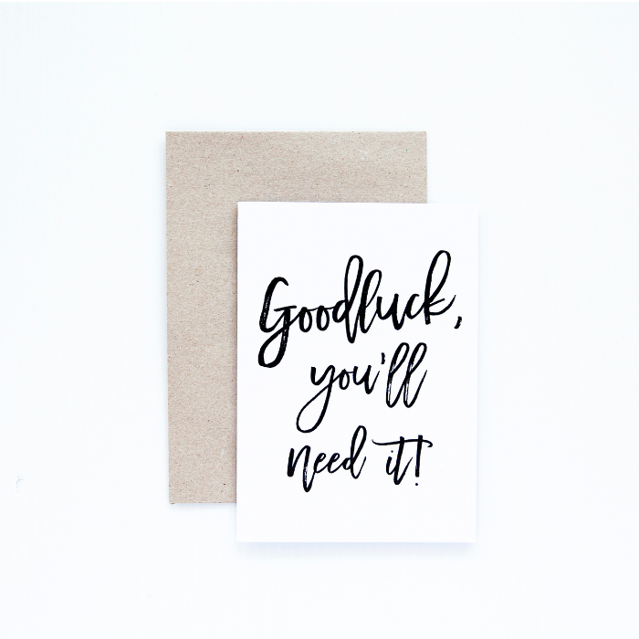 Goodlucj Greeting Card - Seriously Milestones